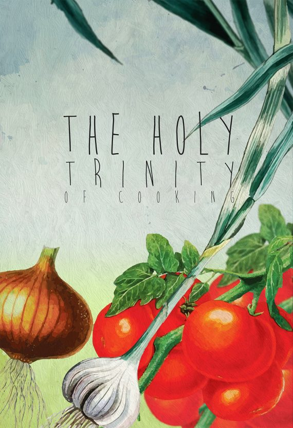 Kitchen Print Kitchen Decor Holy Trinity Of Cooking Art Rustic Farmhouse Giclee Print on Cotton Canvas and Paper Canvas Poster Home