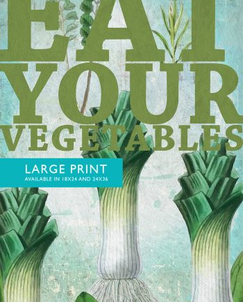Kitchen Print Kitchen Decor Leeks Vegetable Art Rustic Farmhouse Giclee Print Poster Home Wall Art on Cotton Canvas and Satin Photo Paper