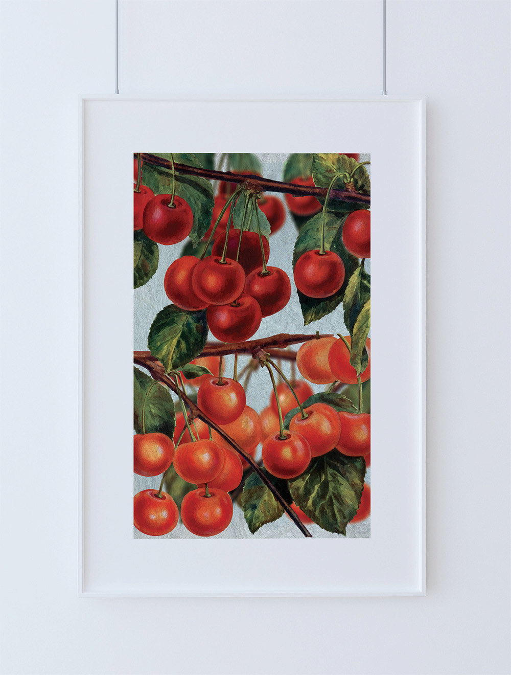 Kitchen wall art cherries print kitchen print food for Art prints for kitchen wall