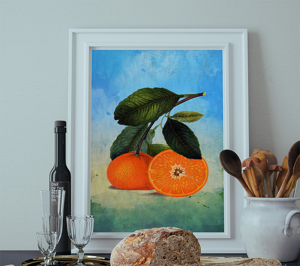Kitchen Art Vegetables Print Botanicals Kitchen Art: Kitchen Wall Art Oranges Print Kitchen Print Florida Food