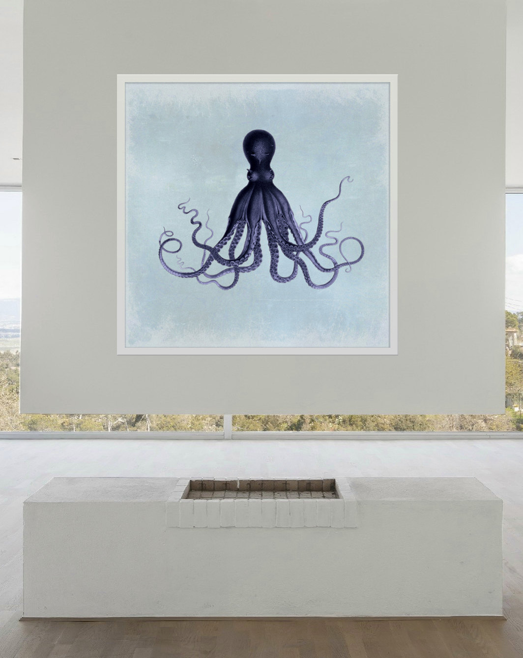 Lord bodner 39 s octopus 24 24 art print sea squid vintage for Vintage ocean decor
