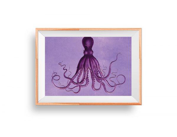 Vintage Nautical Wall Decor: Lord Bodner's Octopus Art Print Sea Squid Vintage Nautical