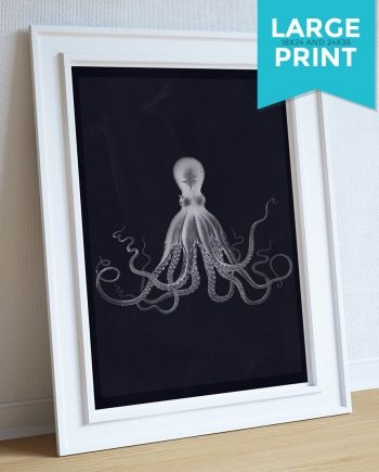 Lord Bodner's Octopus Art Print Sea Squid Vintage Nautical Decor Ocean Wall Art Large Poster Giclee on Satin or Cotton Canvas