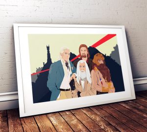 lord-of-the-rings-as-a-team-mashup-poster-original-illustration-giclee-print-on-paper-canvas-pop-culture-geek-gandalf-5817a9e13.jpg