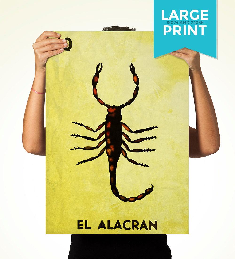 Loteria El Alacran Mexican Retro Illustration Art Print Vintage ...