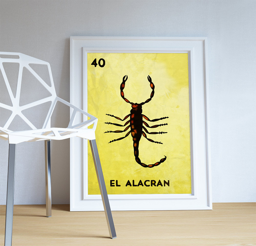 Loteria El Alacran Mexican Retro Illustration Art Print Vintage ...