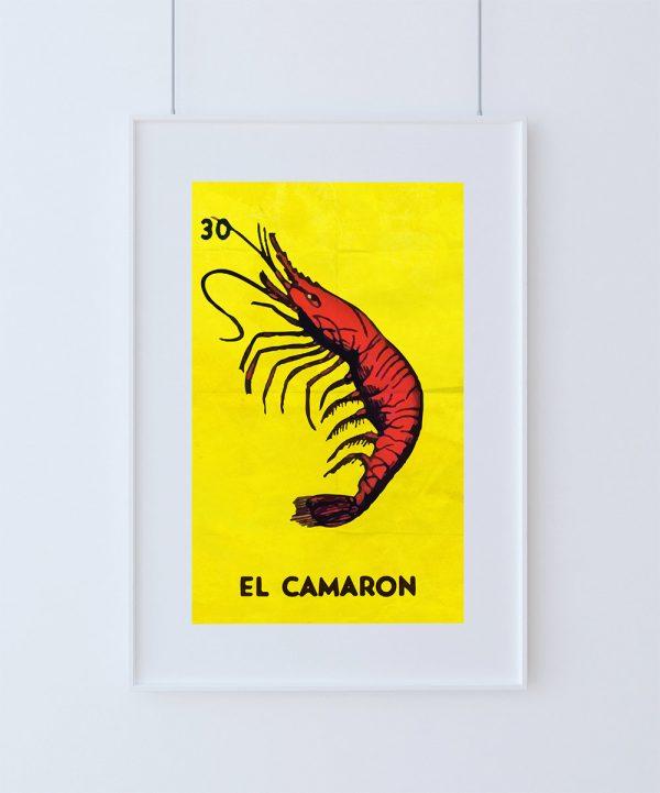 Loteria El Camaron Mexican Retro Illustration Art Print Vintage ...