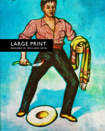 Loteria El Valiente Mexican Retro Illustration Art Print Vintage Giclee Poster Wall Decor Large Giclee Cotton Canvas and Satin Photo Paper