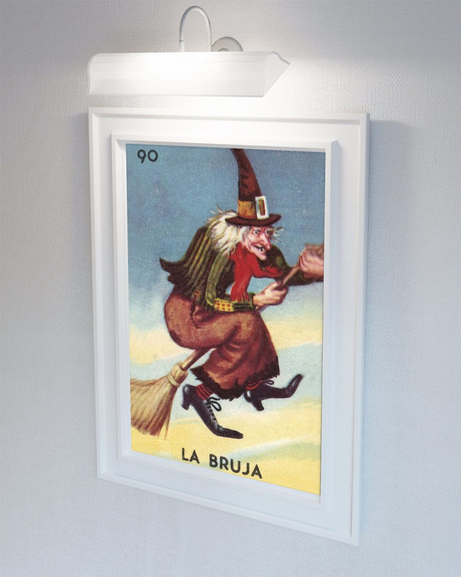 Loteria La Bruja Mexican Retro Illustration Art Print Vintage Giclee on Cotton Canvas or Paper Canvas Poster Wall Decor
