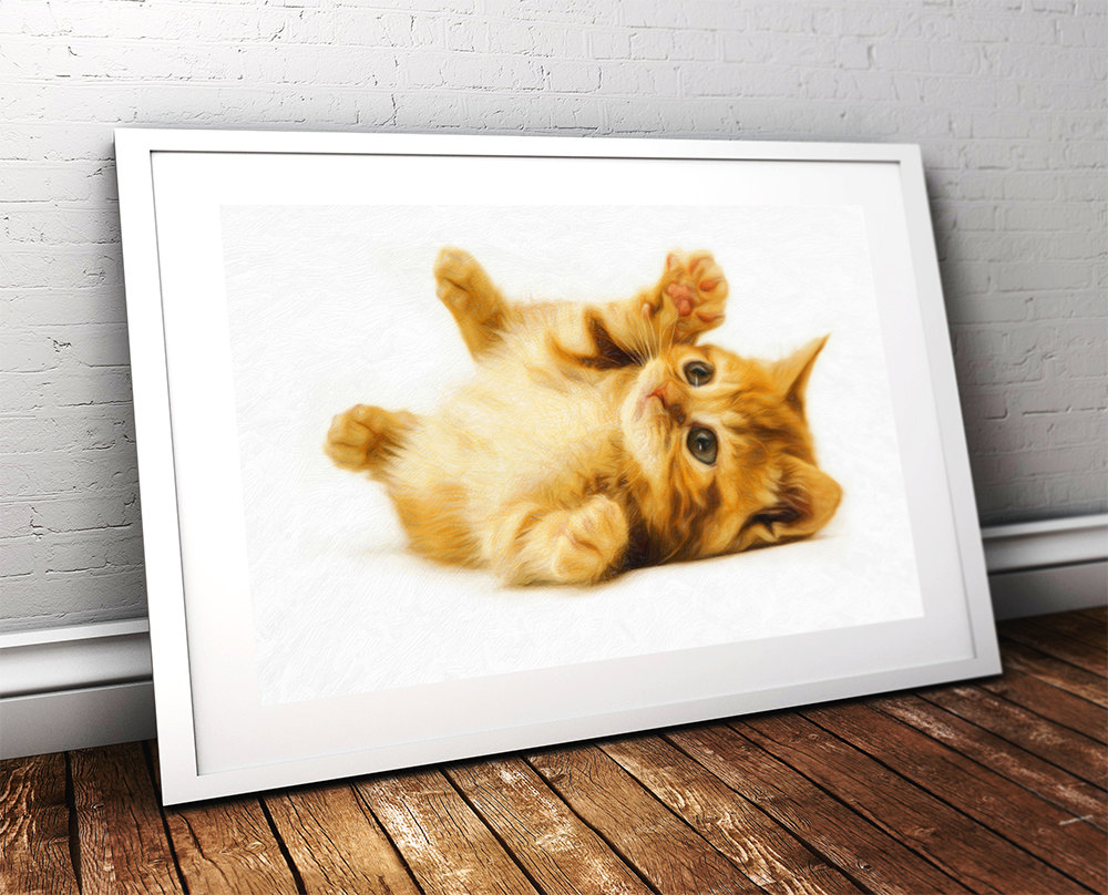 Marmalade Kitten Print Illustration Decor Ocean Wall Art – Giclee ...