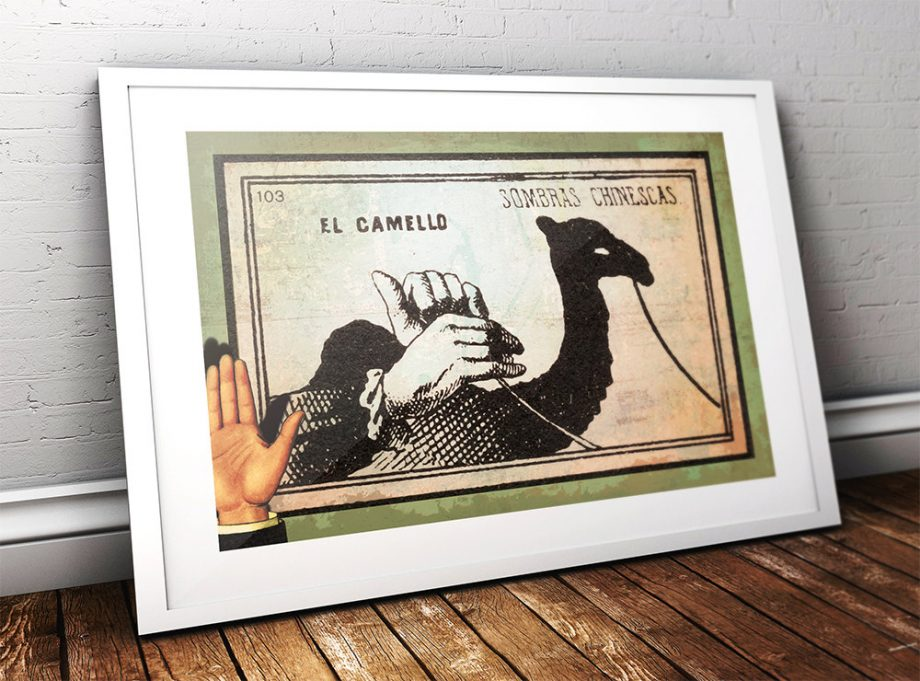 Mexican Shadow Puppet Show Print El Camello Decor Giclee Print on Cotton Canvas and Paper Canvas Poster Home Wall Art