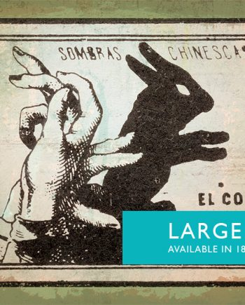 Mexican Shadow Puppet Show Print El Conejo Decor Giclee Print on Cotton Canvas and Satin Photo Paper Poster Home Wall Art