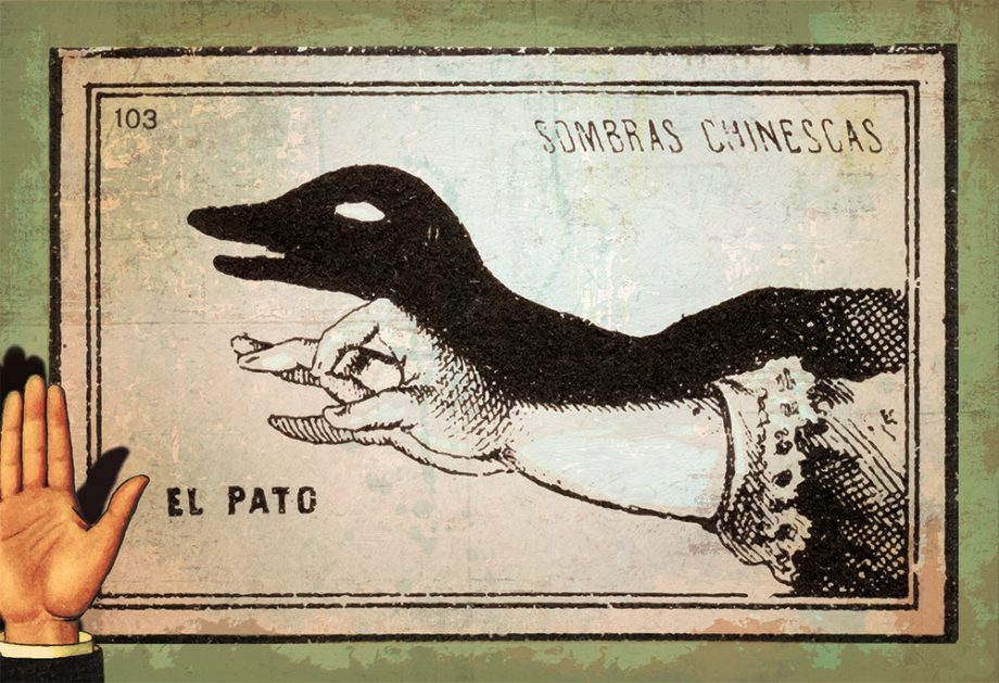 Mexican Shadow Puppet Show Print El Pato Decor Giclee Print on Cotton Canvas and Paper Canvas Poster Home Wall Art