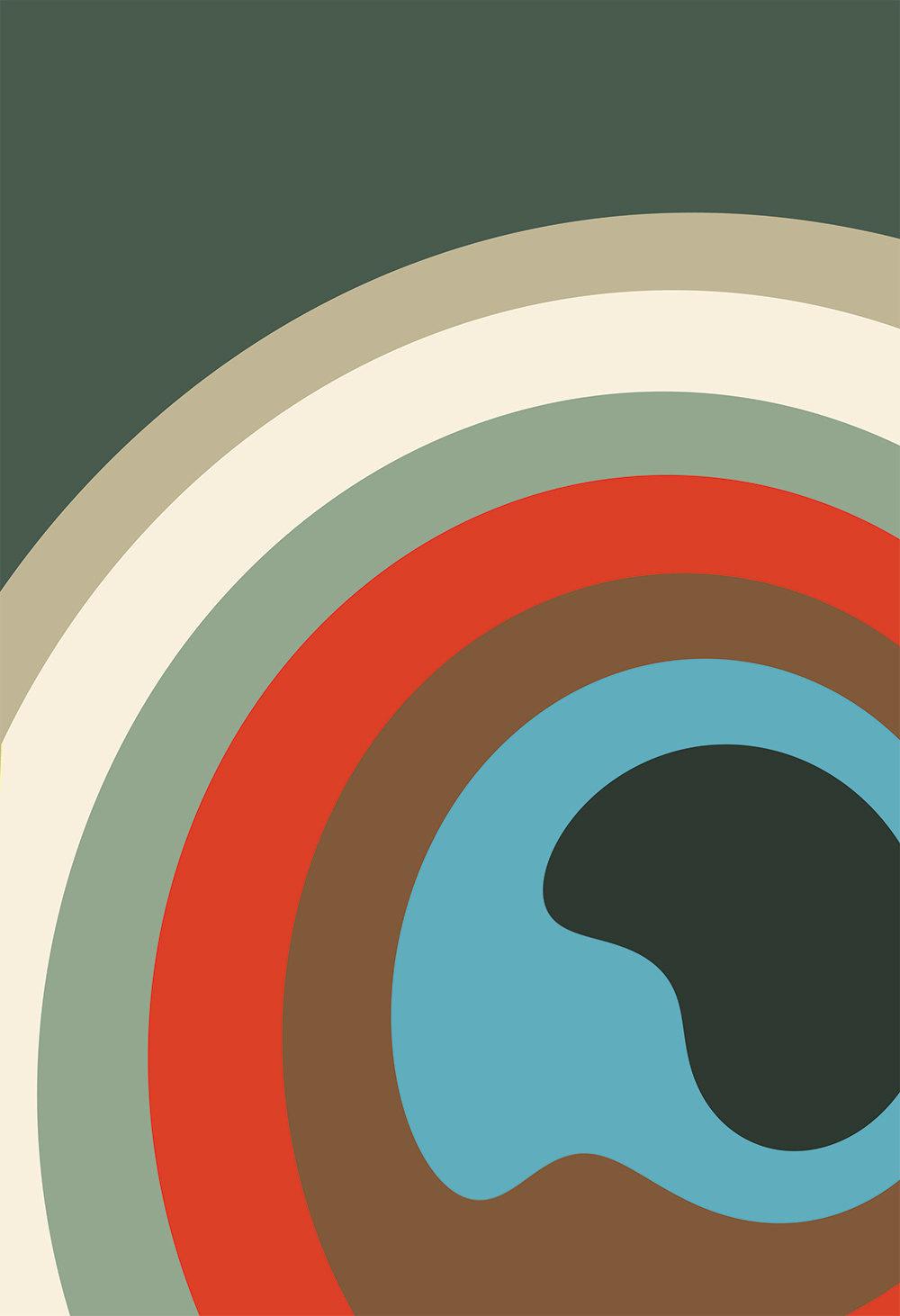 Mid Century Modern Ceiling Light Fixture: Mid Century Modern Print Abstract Art Print Poster Giclee