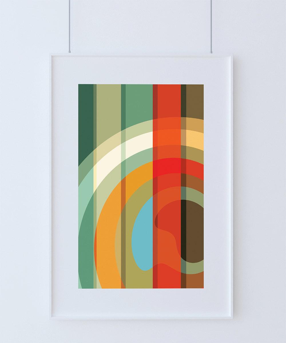 Mid Century Modern Print Abstract Art Poster