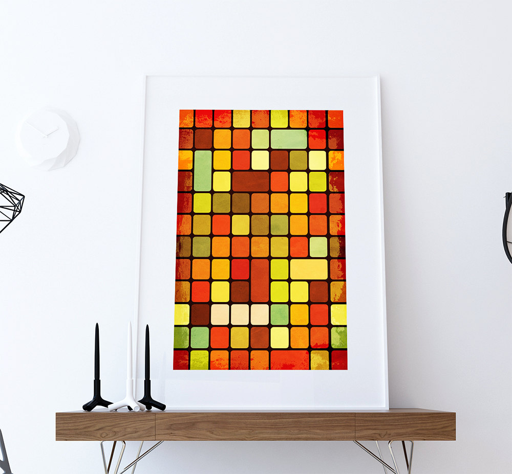 Modern Square Abstract Art
