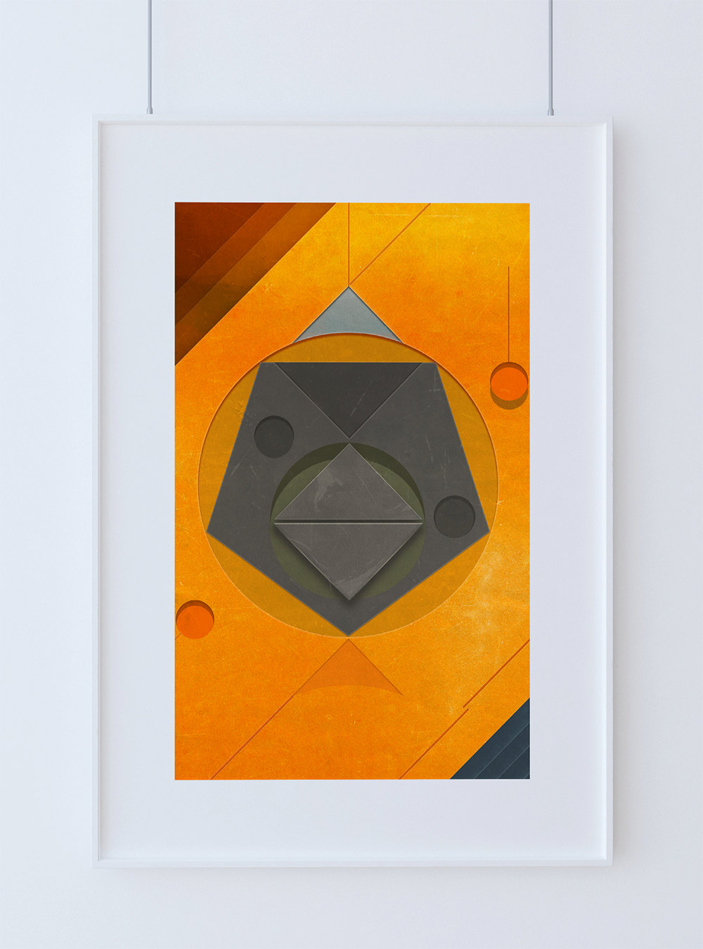 10 Mid Century Modern Design Lessons To Remember: Mid Century Modern Print Geometric Vintage Retro Abstract