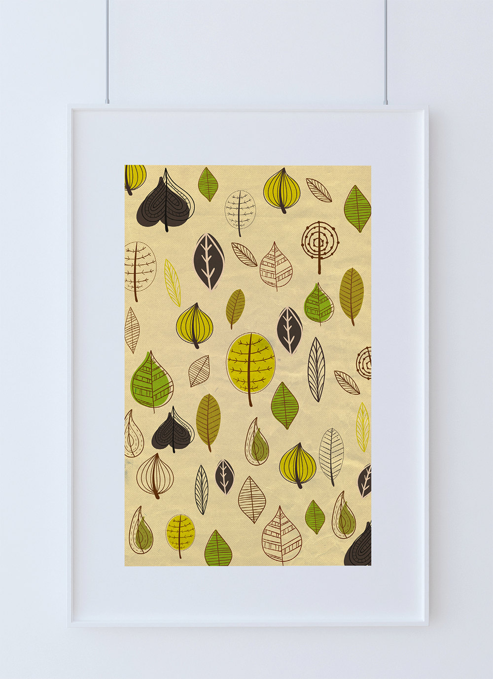 Mid Century Modern Print Leaves Vintage Retro Abstract Art Print ...