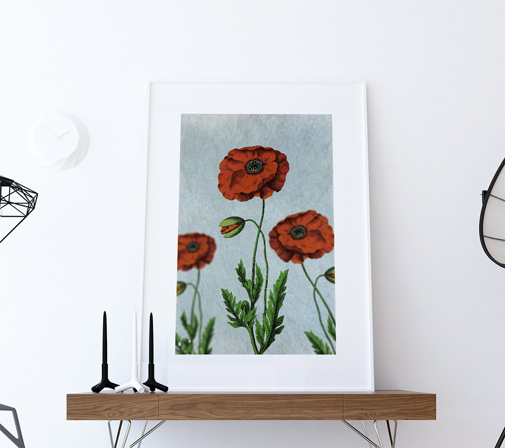 Poppy home decor 28 images abstract poppy flower for Home decor 90027