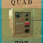 Quad 303 Audiophile Power Amplifier Poster Original Illustration Vintage Ad Style Giclee Print Cotton Canvas Paper Canvas Poster Wall Decor