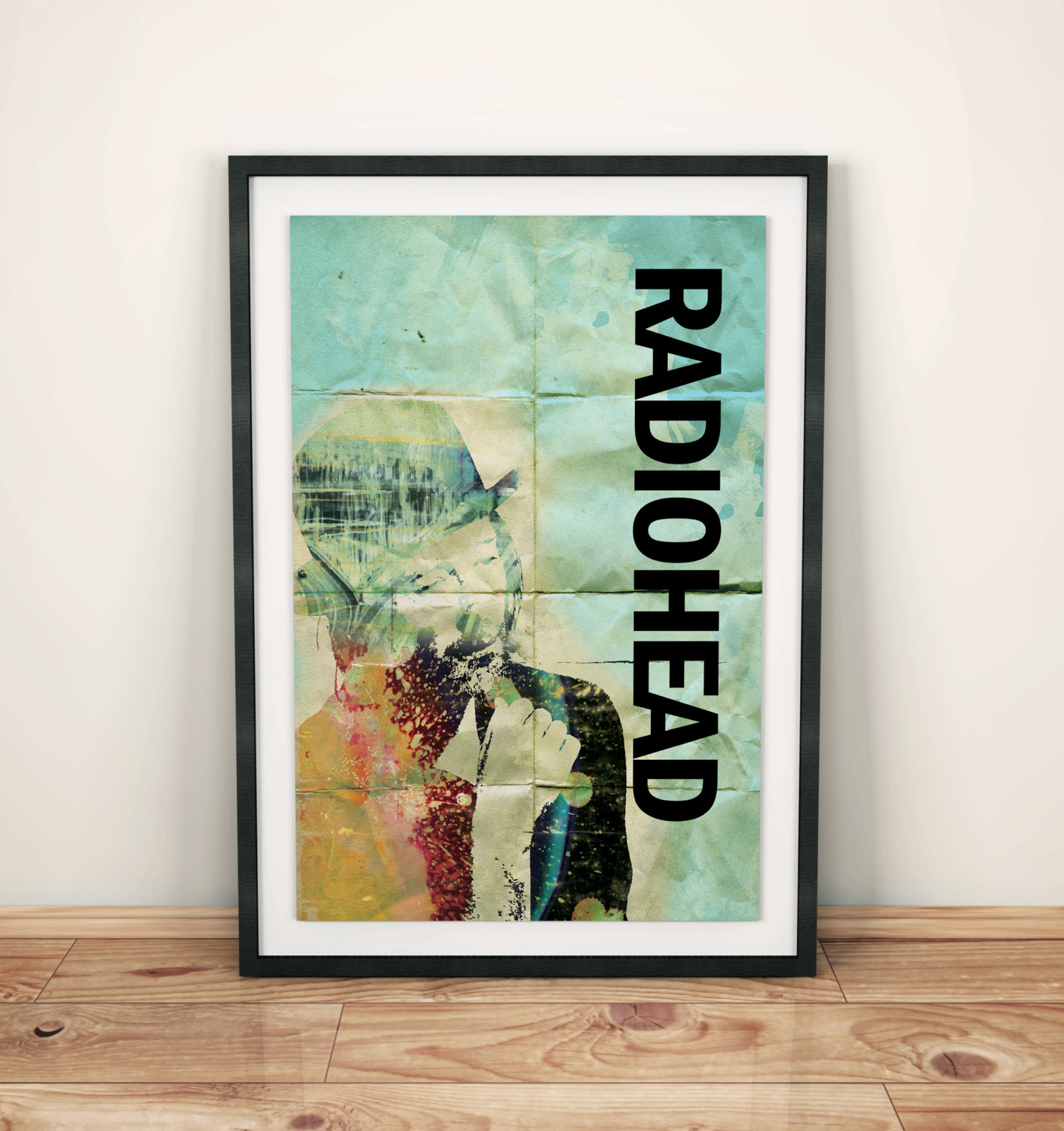 Radiohead thom yorke illustration art print rock poster for Pop wall art