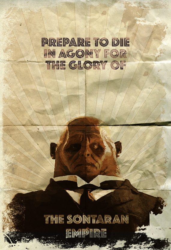 Strax Doctor Who Illustration Sontaran Sci Fi Geekery Print Giclee on Cotton Canvas and Paper Canvas Whovian Grunge Wall Decor