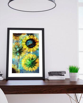 Sunflower Poster sunflower art sunflower gift botanical print sunflower kitchen decor sunflower print sunflower Cotton Canvas & Paper Canvas