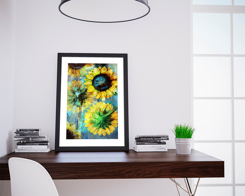 Sunflower Poster sunflower art sunflower gift botanical print ...