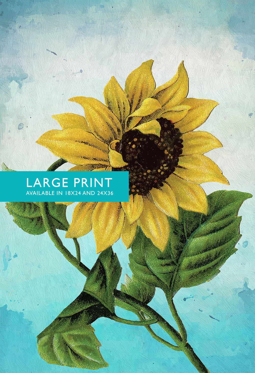 Sunflower Print Set of Two Sunflowers art botanical print flower ...