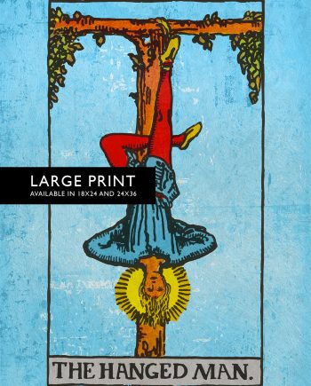 Tarot Print The Hanged Man Retro Illustration Art Rider Print Vintage Giclee on Cotton Canvas and Satin Photo Paper