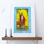 Tarot Print The Magician Retro Illustration Art Rider Print Vintage Giclee on Cotton Canvas and Satin Photo Paper