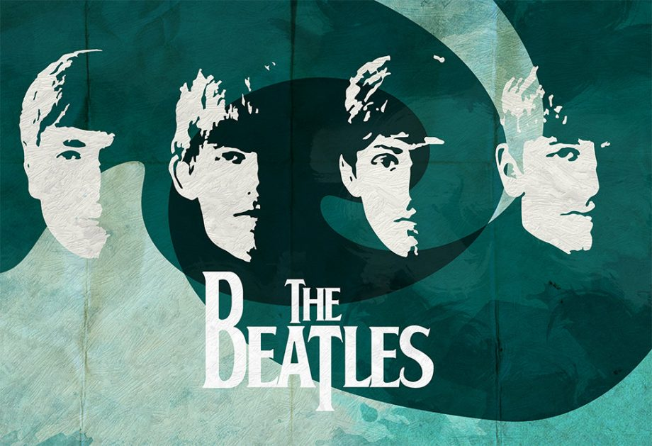 The Beatles Vintage Retro Art Print Large Poster Giclee on Satin or Cotton Canvas Wall Decor