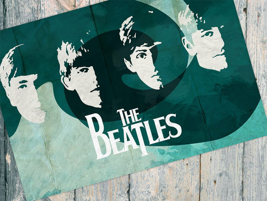 The Beatles Vintage Retro Art Print Poster Giclee on Cotton Canvas and Paper Canvas Wall Decor