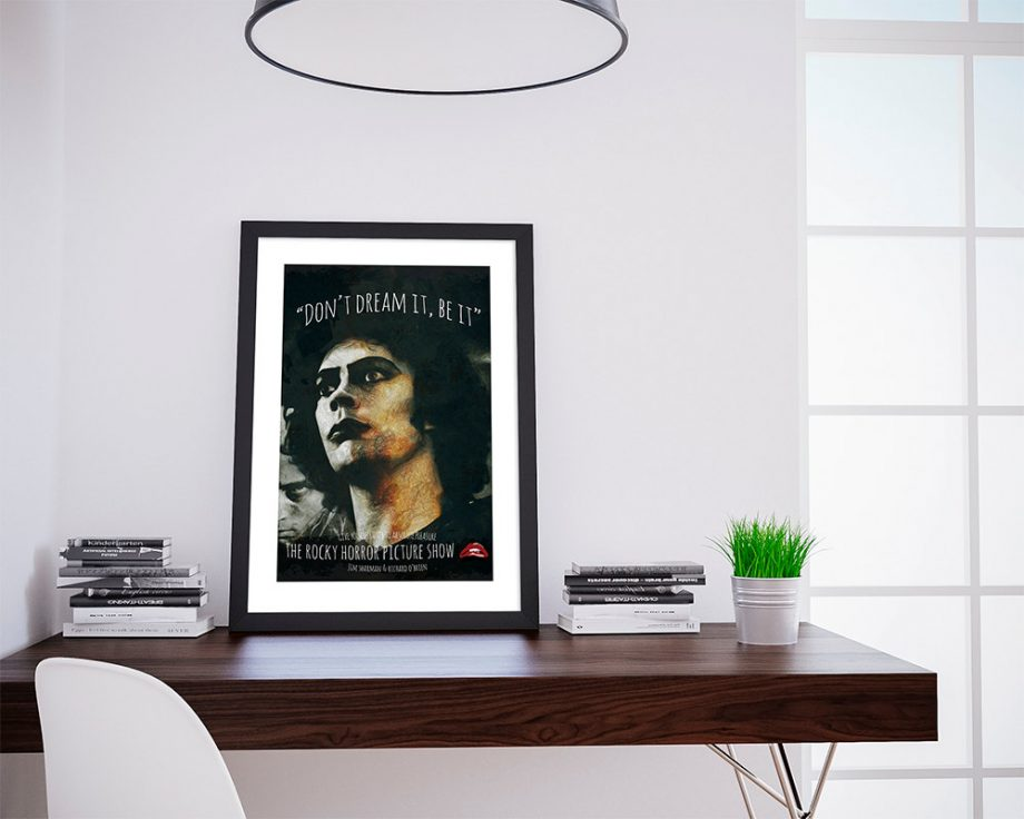 The Rocky Horror Picture Show Poster Illustration Dr. Frank n-Furter Giclee on Cotton Canvas and Satin Photo Finish