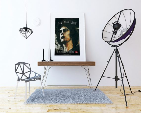 The Rocky Horror Picture Show Poster Illustration Dr. Frank n-Furter Giclee Print on Cotton Canvas or Paper Canvas