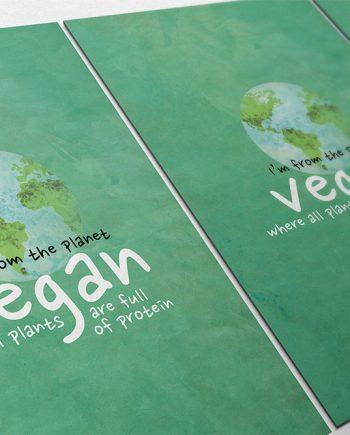 Vegan Poster Kitchen Print Original  Giclee Print on Cotton Canvas and Paper Canvas Home Kitchen Decor