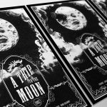 Vintage A Trip To The Moon Poster Illustration Georges Méliès Giclee Print on Cotton Canvas or Paper Canvas