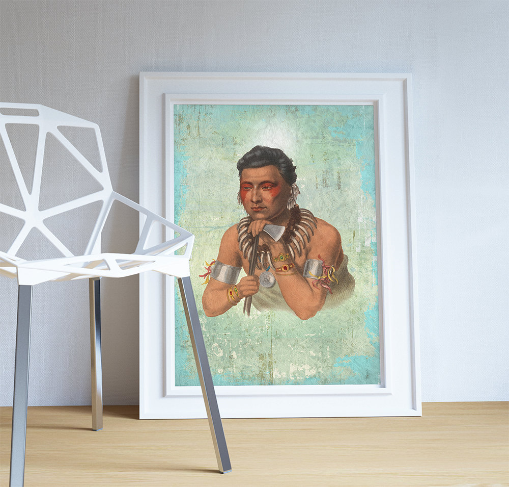 Ioways Native American Man Art Print