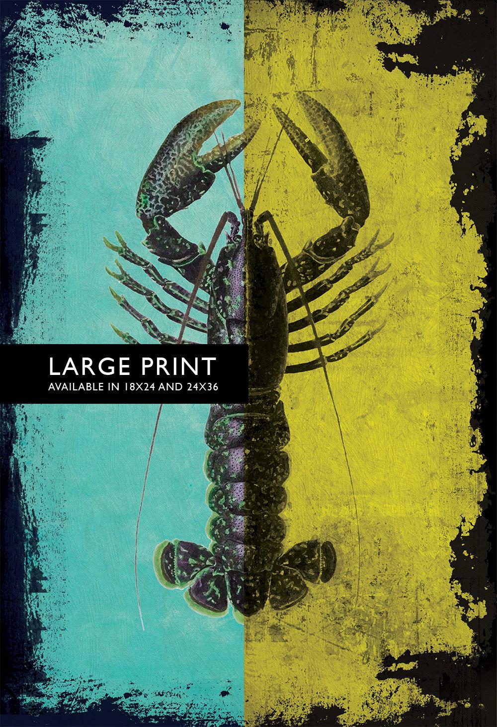 Vintage Lobster Print 18×24\