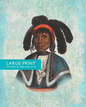 Vintage Seminole Chief Native American Man Art Print Vintage Giclee on Cotton Canvas and Satin Photo Paper