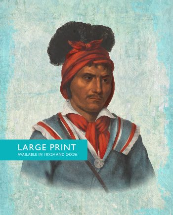 Vintage Seminole Man Native American Man Art Print Vintage Giclee on Cotton Canvas and Satin Photo Paper