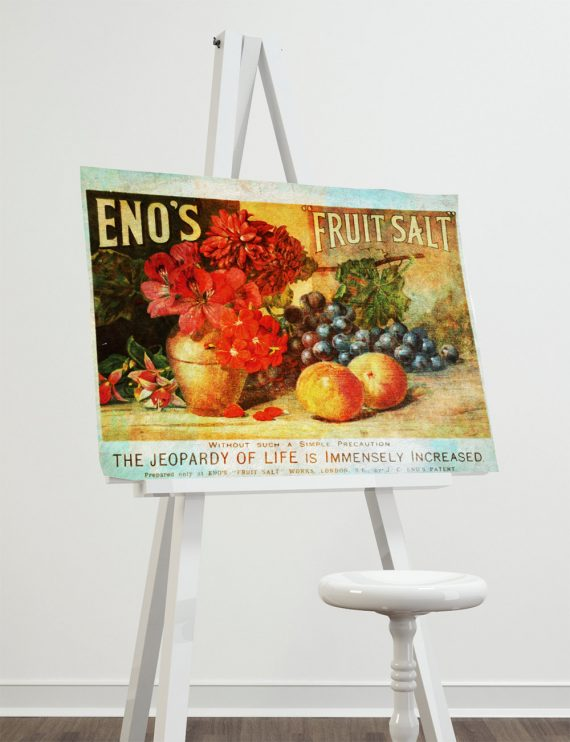 Vintage Victorian Fruit Salad Ad Print Kitchen Decor Giclee Print on Cotton Canvas and Paper Canvas Poster Home Wall Art