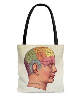 Vintage Anatomy Reusable Tote Bag - Victorian Brain Medical Textbook