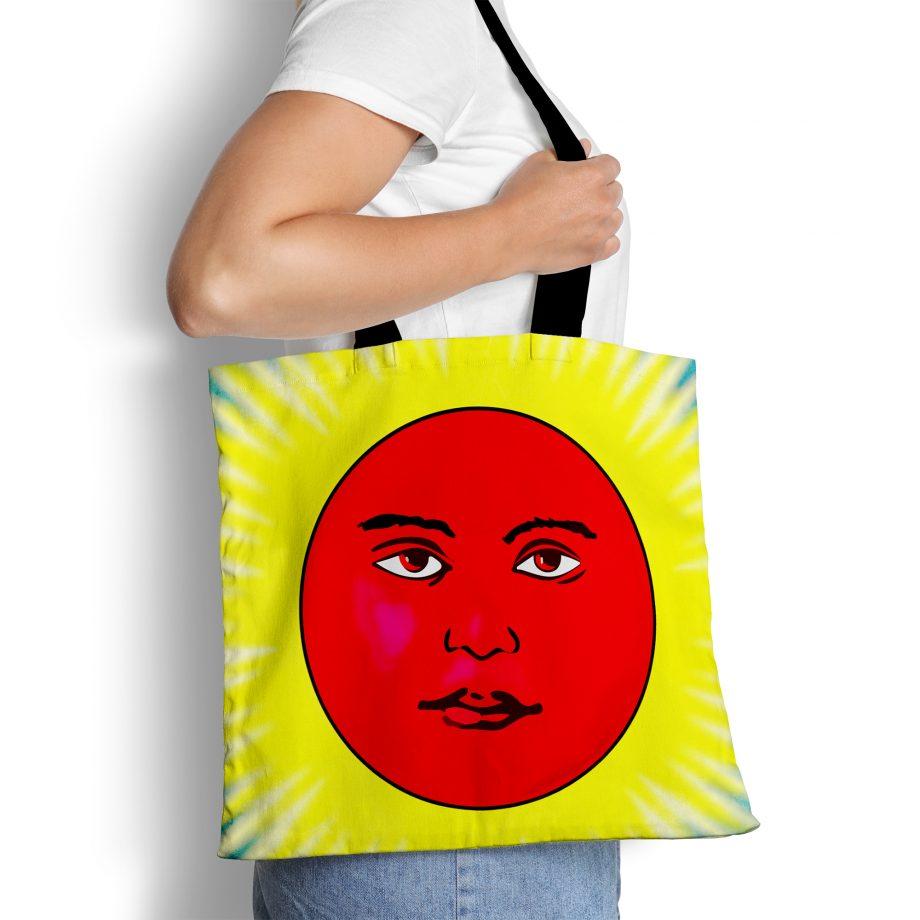Vintage Art Tote Bag - El Sol Loteria Mexicana
