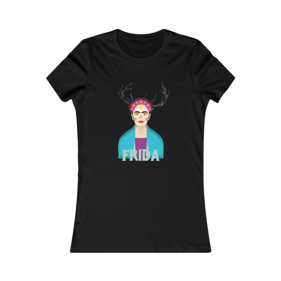 Frida Surreal Women's Graphic Tee - Black