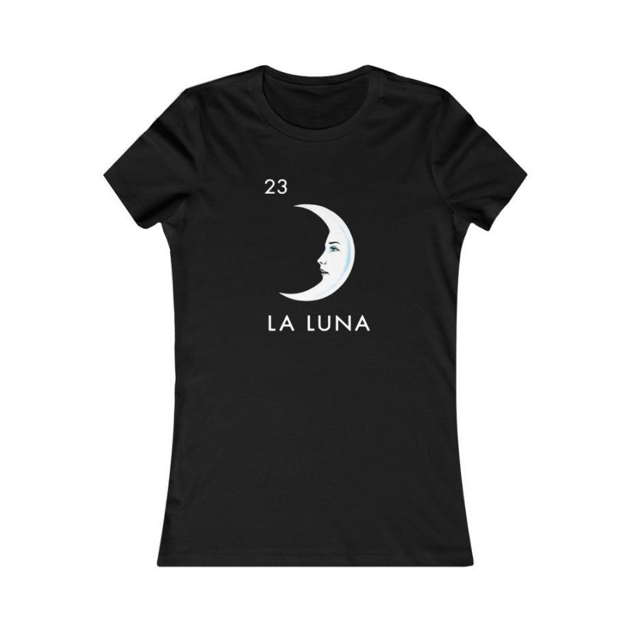 La Luna Moon Mexican Loteria Graphic Tee - Black