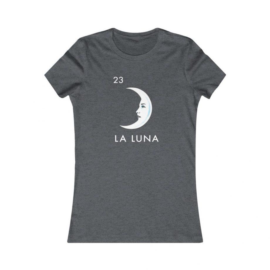 La Luna Moon Mexican Loteria Graphic Tee - Dark Grey Heather
