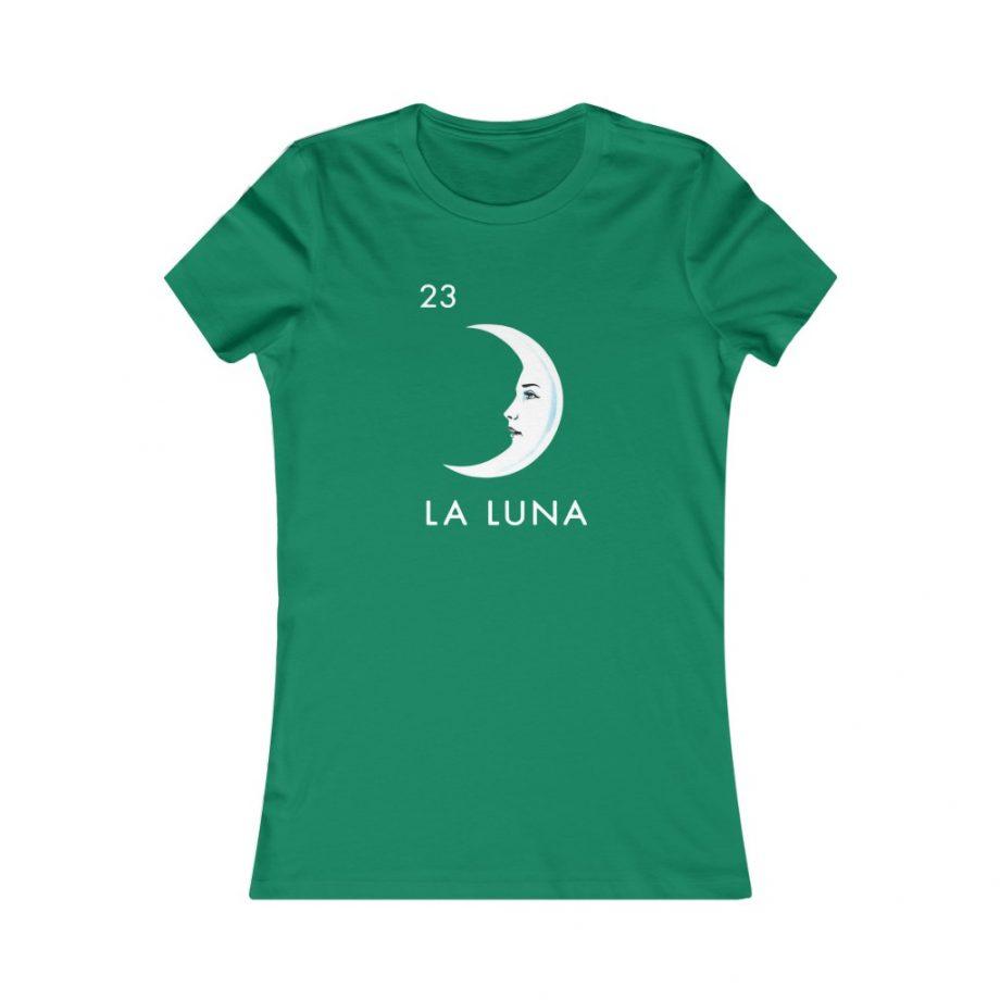 La Luna Moon Mexican Loteria Graphic Tee - Kelly