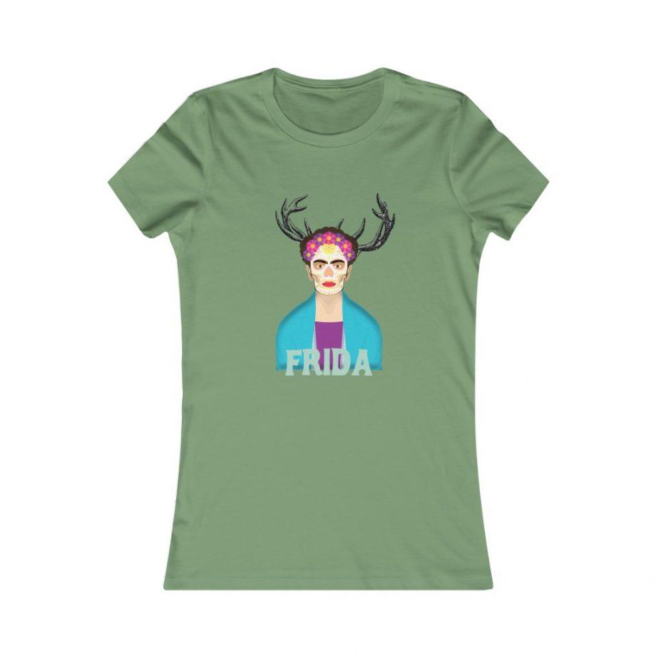 Frida Surreal Women's Graphic Tee - Leaf