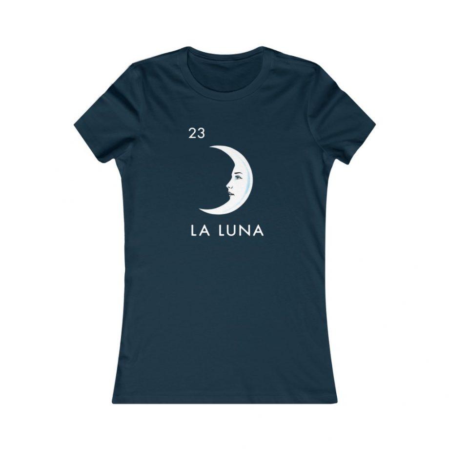 La Luna Moon Mexican Loteria Graphic Tee - Navy